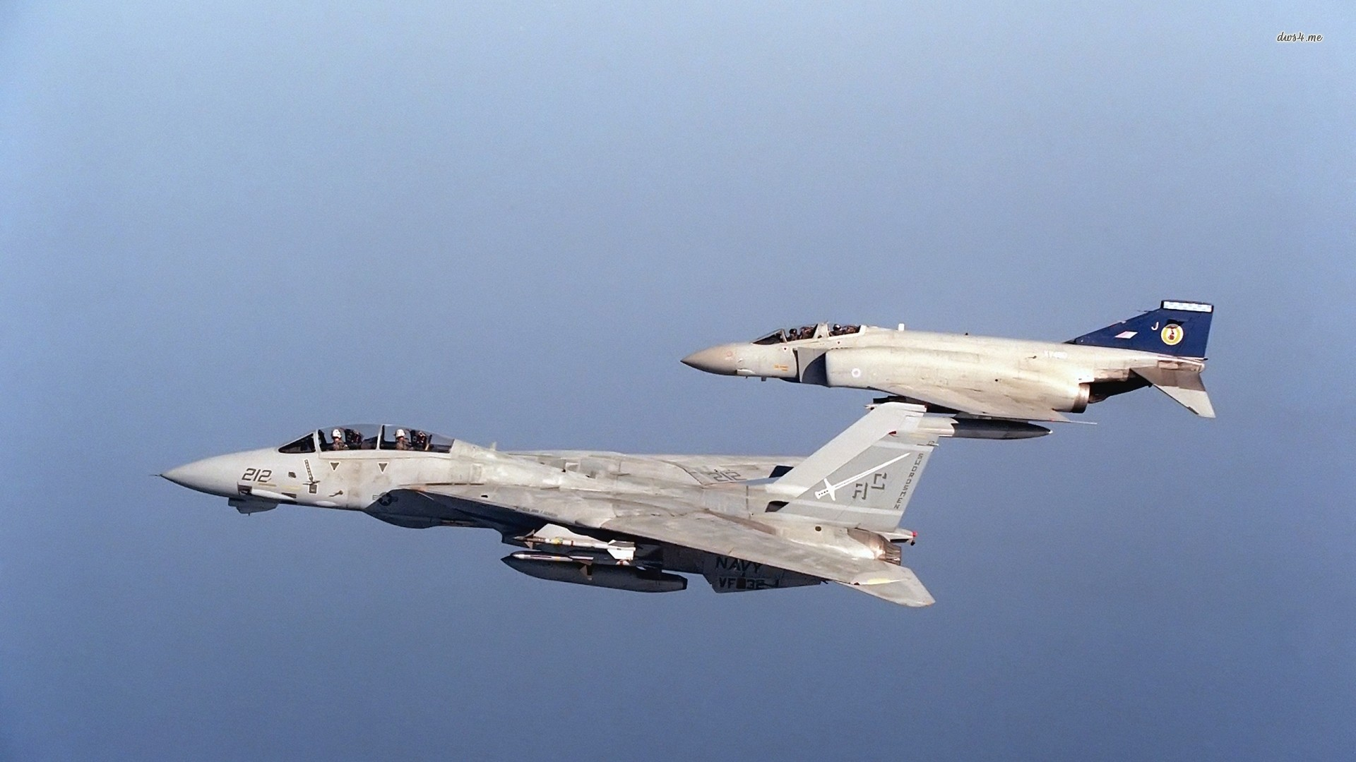 1920x1080 ... McDonnell Douglas F-4 Phantom II and Grumman F-14 Tomcat wallpaper   ...