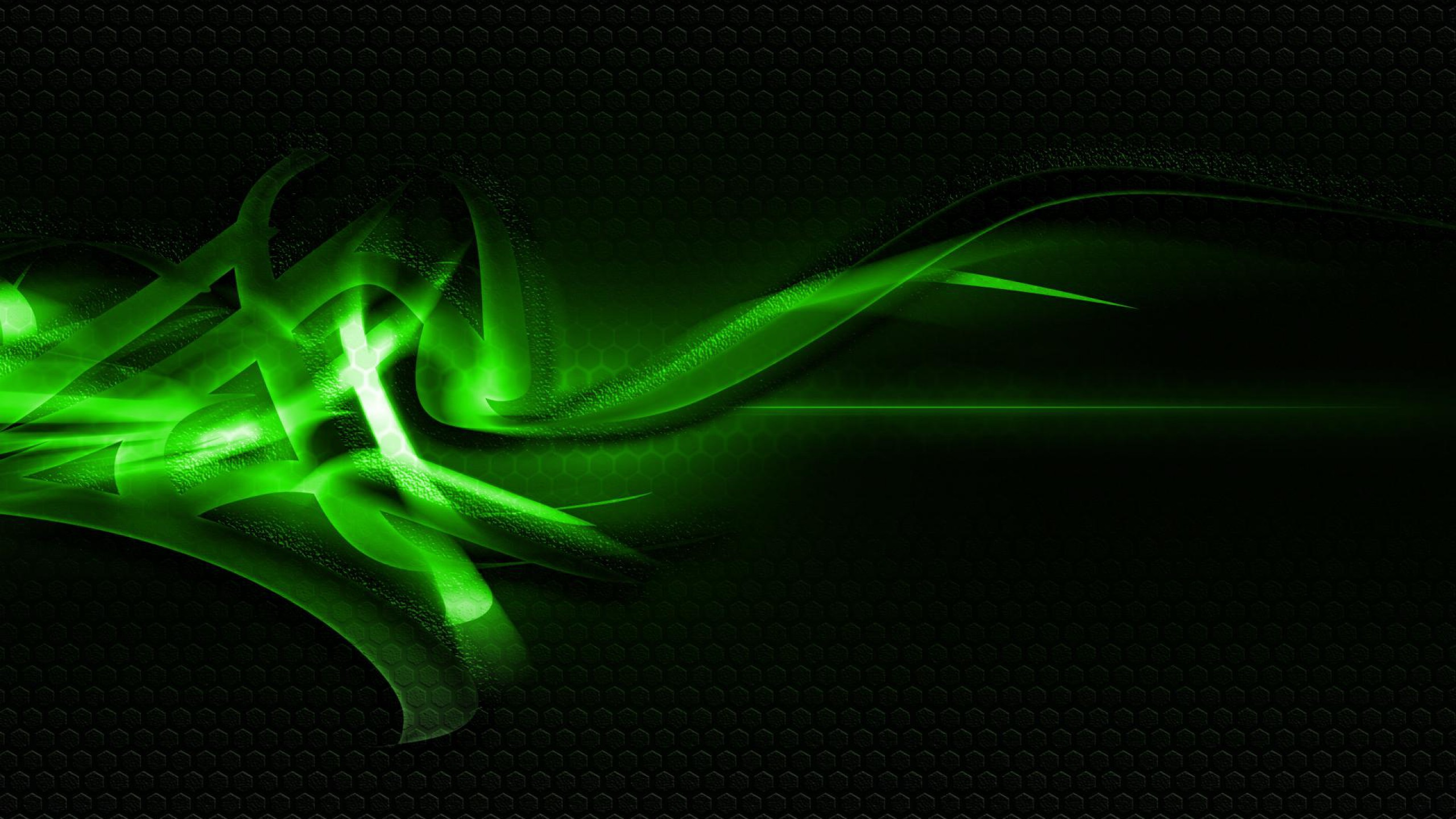 2560x1440 Green And Black Abstract Wallpaper