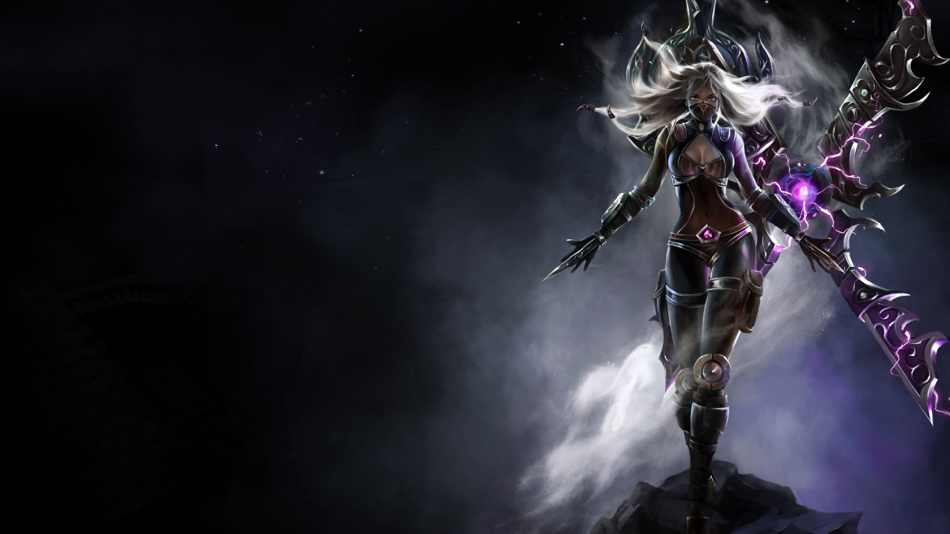 1920x1080 Dark Purple fantasy female warrior wallpaper from Warriors wallpapers