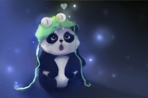 Anime Panda Wallpaper 1920x1080 for iPad