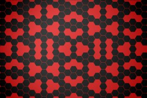 Red Hexagon Wallpaper 2600x1600 windows
