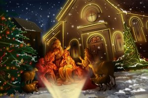 3D Animated Christmas Wallpapers 1920x1200 ipad retina