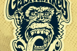 Gas Monkey Garage Logo Wallpaper 1536x2048 for iphone 5s