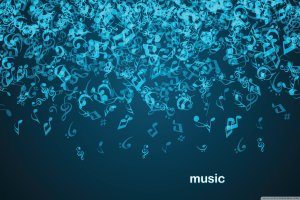 download free Blue Music Notes Wallpaper 2560x1600 for windows