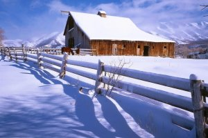 Winter Farm Wallpaper 2048x1365 for hd