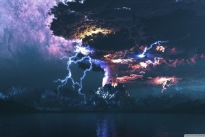 new Volcanic Lightning Wallpaper 2400x1350 for phone