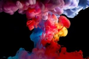 widescreen Colorful Smoke Wallpaper 1920x1080